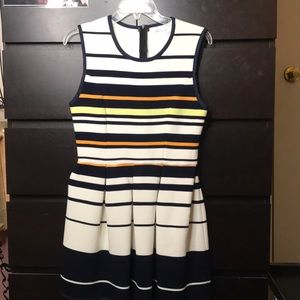 Striped fit and flare dress